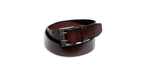 Pánský hnědý kožený pásek Paul Stragas