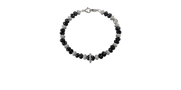 Dámský stříbrný náramek s černými kamínky EDC by Esprit