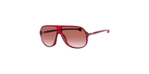 Červené pánské sluneční brýle Lacoste