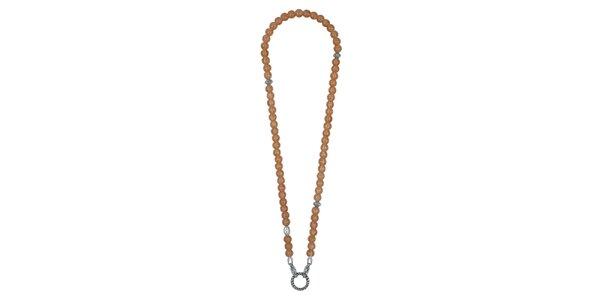 Dámský dlouhý náhrdelník s lososovými kamínky EDC by Esprit