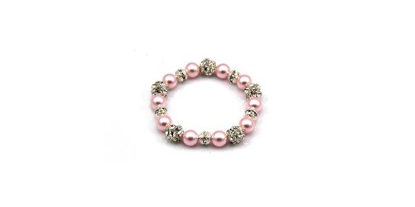 Dámský růžový perlový náramek Royal Adamas