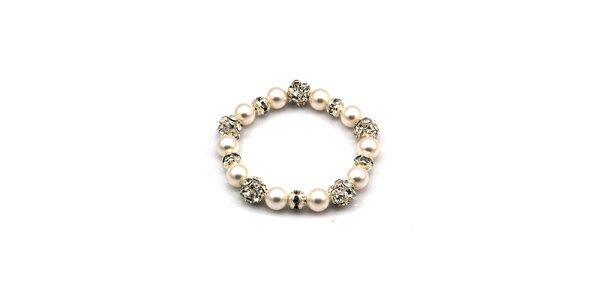Dámský třpytivý perlový náramek Royal Adamas