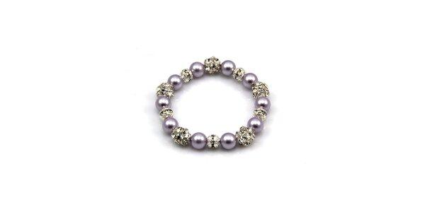 Dámský fialkový perlový náramek Royal Adamas