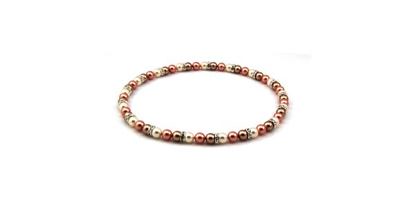 Dámský perlový náhrdelník Royal Adamas se starorůžovými perlami
