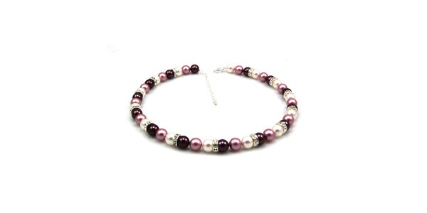 Dámský perlový náhrdelník Royal Adamas s fialkovými perlami