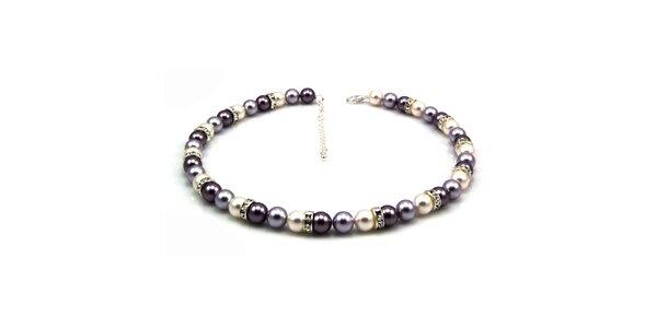 Dámský perlový náhrdelník Royal Adamas se stříbrnými perlami