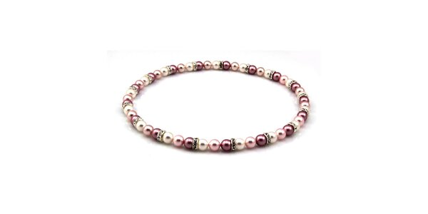 Dámský perlový náhrdelník Royal Adamas s lila perlami