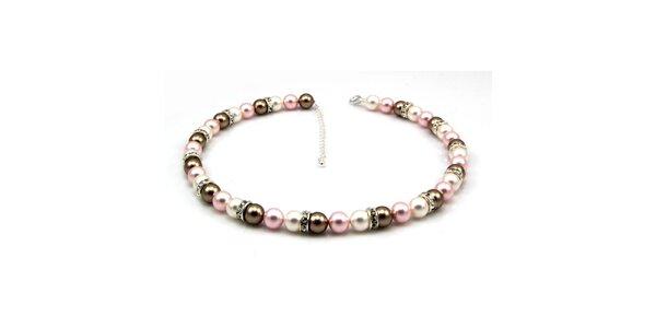 Dámský perlový náhrdelník Royal Adamas s pastelově zabarvenými perlami