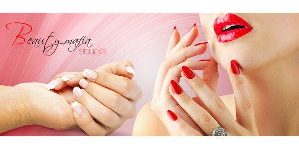 Nové gelové nehty s kompletní manikúrou dle vašeho přání