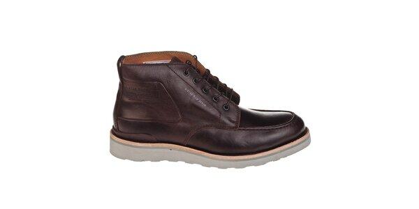 Pánské tmavě hnědé kotníčkové boty G-Star