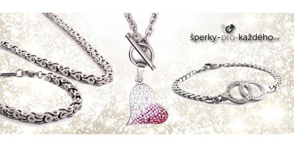 Šperky z chirurgické oceli pro ženy i muže