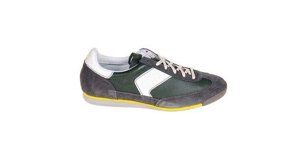 Pánské šedo-zelené tenisky G-Star