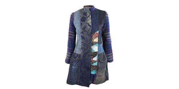 Dámský džínový kabátek s látkovými detaily Desigual