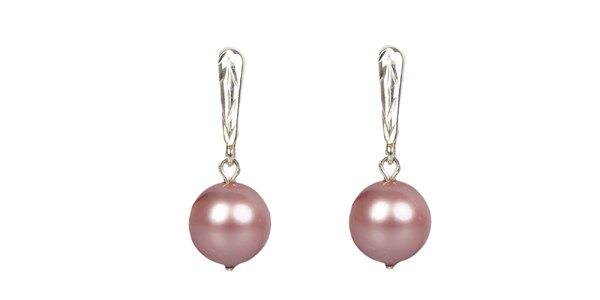 Dámské sytě růžové perlové náušnice Royal Adamas