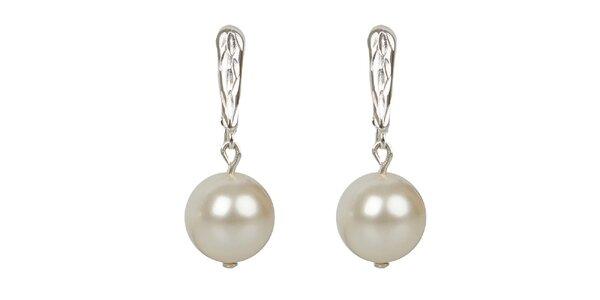 Dámské sněhobílé perlové náušnice Royal Adamas