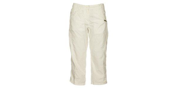 Dámské bílé capri kalhoty Loap