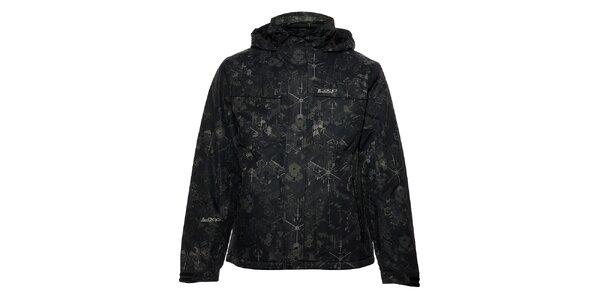 Pánská černá zimní bunda Loap s potiskem