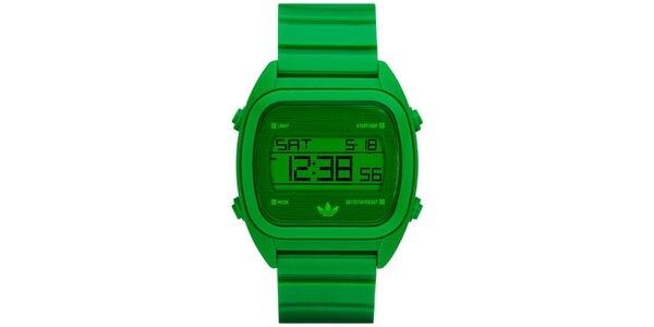 Pánské zelené plastové digitální hodinky Adidas