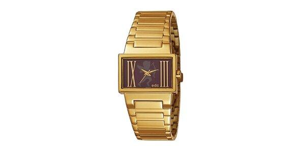Pozlacené hodinky s ocelovým řemínkem EDC by Esprit