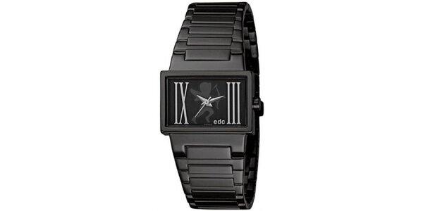 Černé hodinky s ocelovým řemínkem EDC by Esprit