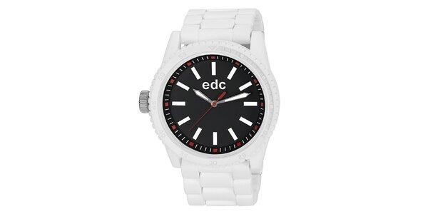 Dámské bílé hodinky s černým ciferníkem EDC by Esprit