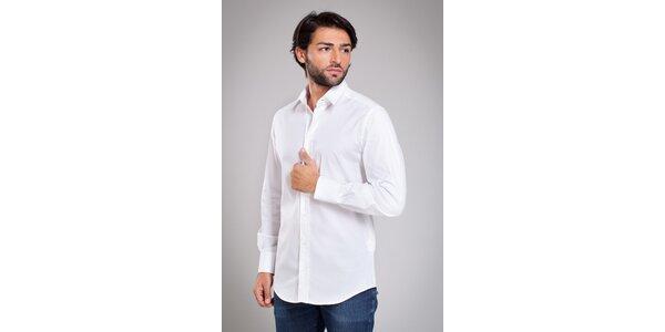 Pánská bílá košile Dolce & Gabbana s jemným proužkem