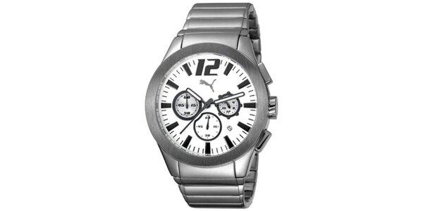 Pánské ocelové hodinky s chronografem Puma