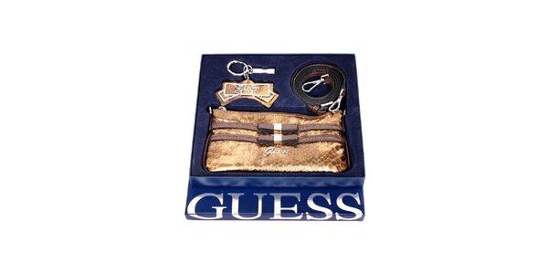 Dárkový set značky Guess v bronzové barvě