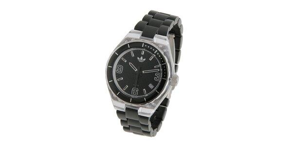 Dámské černé hodinky Adidas s transparentními detaily