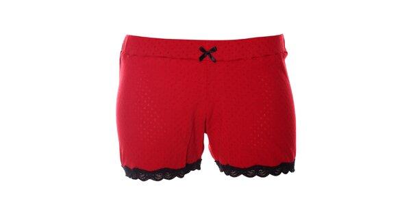 Dámské červené pyžamové šortky Vive Maria