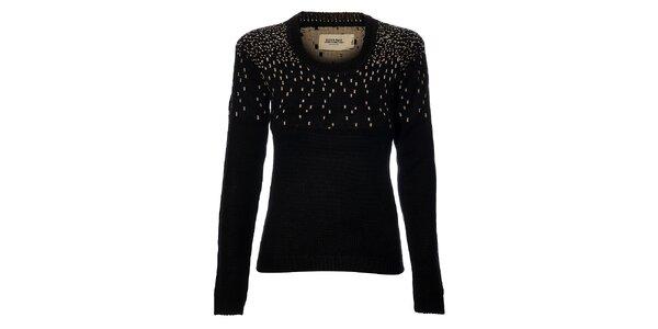 Dámský černý svetr Eleven Paris se vzorem