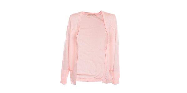 Dámský světle růžový cardigan Nougat London