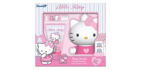 Hello Kitty dárková sada -tělové mléko 30 ml, Sprchový Gel 400ml s pumpičkou…
