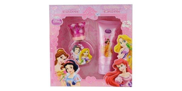 Disney Princezny dárková sada - toaletní voda 30 ml, tělové mléko 50 ml