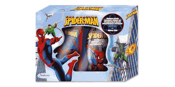 Spiderman dárková sada - sprchový gel šampon 2v1 250ml+toaletní taška