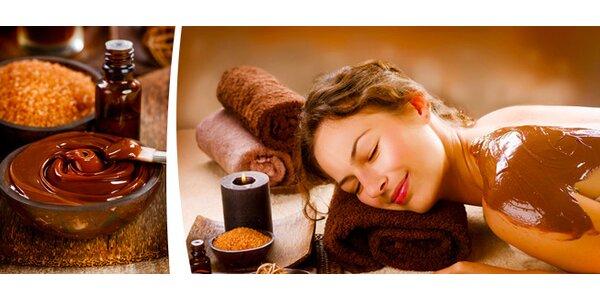 90 minut čokoládové masáže + peeling celého těla