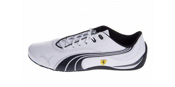 Pánské bílé tenisky Puma Ferrari s černými detaily
