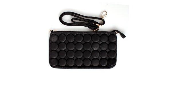 Dámská černá kabelka London Fashion s kulatými ozdobami