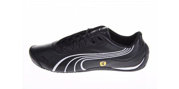 Pánské černé tenisky Puma Ferrari s bílými detaily