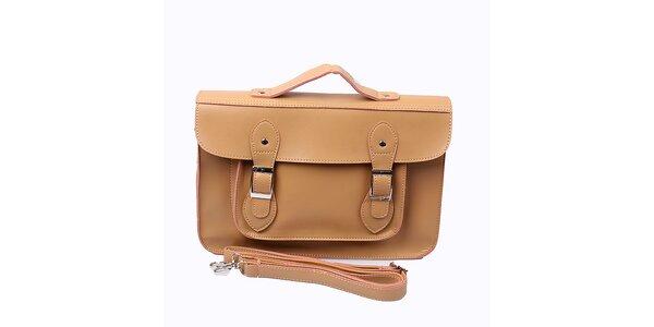 Dámská béžová kabelka s přezkami London Fashion