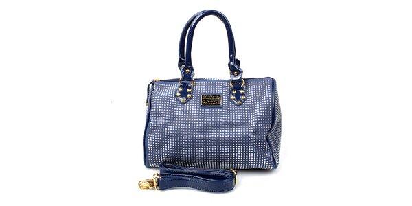 Dámská tmavě modrá kabelka s kamínky Anna Smith