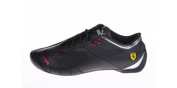 Pánské černé tenisky Puma Ferrari s červenými detaily