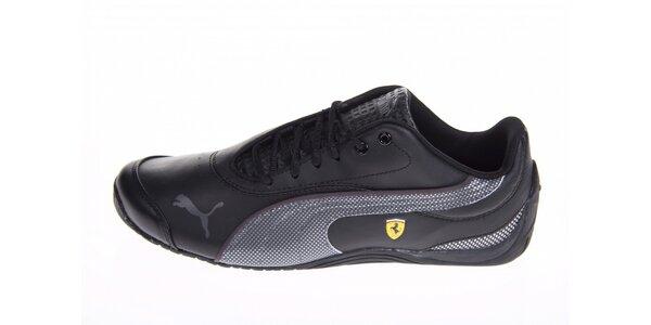 Černé tenisky Puma Ferrari s šedivými detaily