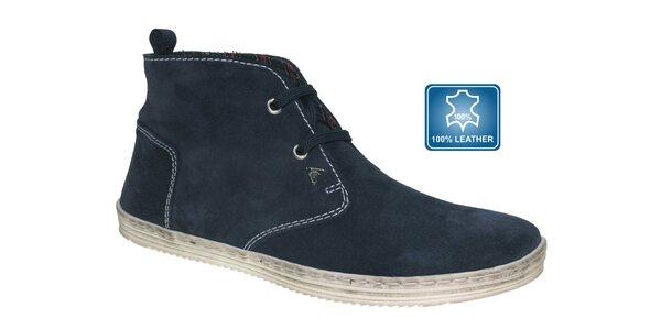 Pánské tmavě modré kotníčkové boty Beppi
