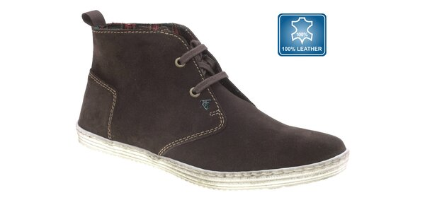Pánské tmavě hnědé kotníčkové boty Beppi
