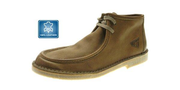 Pánské světle hnědé kožené boty Beppi