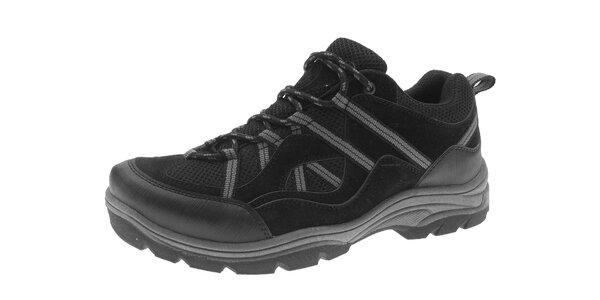 Pánské černé trekové boty Beppi