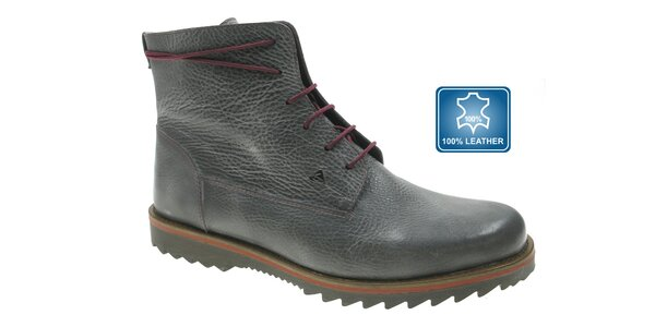 Pánské tmavě šedé kožené boty Beppi