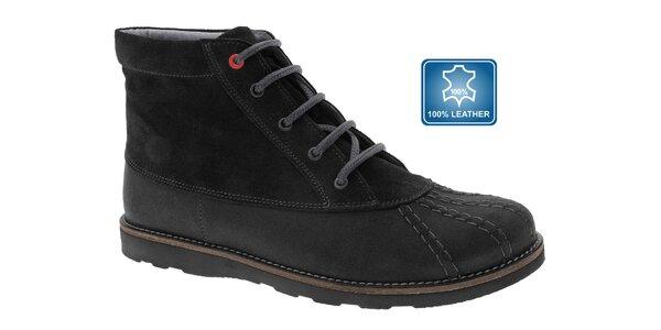 Dámské černé kotníčkové boty Beppi