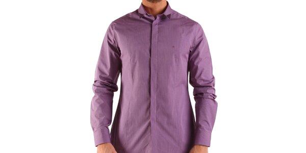 Pánská fialovo-vínová košile Calvin Klein
